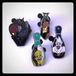 Other - Lot of Four Disney Villains Pins